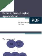 Definisi, Ruang Lingkup Agromedicine