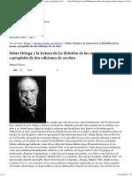 Sobre Ortega y La Lectura de La Rebelión de Las Masas a Propósito de Dos Ediciones de Su Obra _ OtroLunes 30