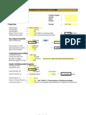 scrubber design | Mole (Unit) | Flow Measurement