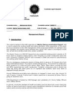 Management Report Sample