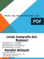 Profil Kelurahan Rejosari 2015