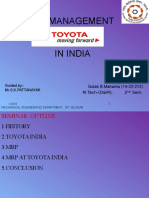 Mrp of Toyota India