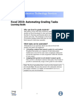 Excel 10 Automatic Grading