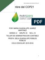 Cumbre Del COP21
