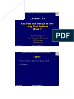 L 03 Analysis and Design of One Way Slab System Part II Dec 2014