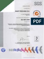 Certificado ISO 9001 Abril 2010