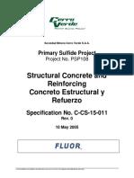 Especificaciones Técnicas Acero y Concreto