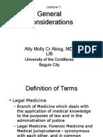 Lec 1 - Gen Considerations