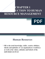 Intro to HRM