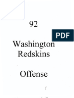 1992 Washington Redskins Offense (Gibbs)