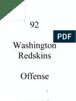 1992 Washington Redskins Offense (Gibbs)