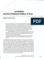 Wallflower Masculinities and the Peripheral Politics of Emo