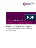 Guidance on the Design and Installation of Groundwater Monitoring Points