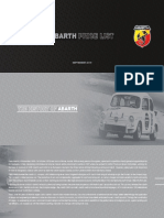 Abarth Pricelist May 2015