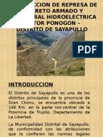 Construccion de Represa de Concreto Armado y Minicentral