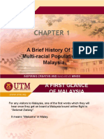 Chapter 1 - A Brief History of the Multi-racial Population of Malaysia