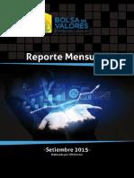 Reporte Mensual Setiembre 2015 Bolsa de Valores Uruguay