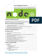 6 Months Industrial Training in Node JS