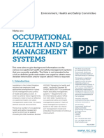 Occupational Health and Safety Management Systems Tcm18 240421