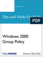Windows 2000 Group Policy