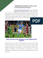 Prediksi Napoli vs Torino Tgl 7 Januari 16