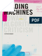 Reading Machines Algorithmic Criticism Digital Humanities 2011