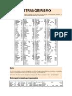 Estrangerismo II - No Dicionario Portugues
