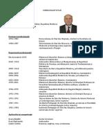 Ion Stăvilă CV