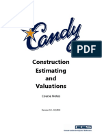 C201 - Construction Estimating & Valuations - Rev 3.0