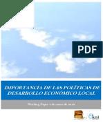 IMPORTANCIA DE LAS POLITICAS DE DESARROLLO ECONOMICO LOCAL