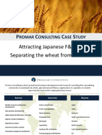 Case Study Japanese Food Sector Investment