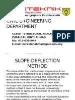 Week 6- SLOPE DEFLECTION METHOD for indeterminate portal frame.ppsx