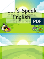 Let's Speak English (Template)