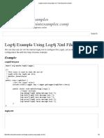 log4j tutorial example using log4j xml