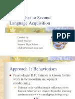 Second Language Acquisition Approaches