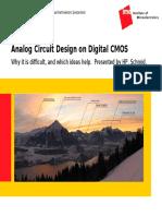 Analog Circuit Design on Digital CMOS
