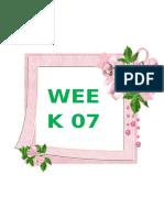 Activity Plan Week 7
