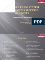 Cognitive Radio System and Seamless Spectrum Handover