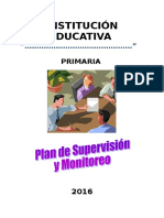 Plan Anual Supervision y Monitoreo