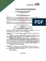 Decreto-ley 155-62 Estatuto Docente Entrerriano