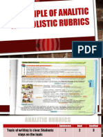 Example of Analitic and Holistic Rubrics