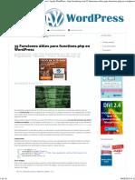 35 Funciones Útiles Para Functions.php en Wordpress - Ayuda WordPress