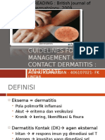 Guidelines for the Management of Contact Dermatitis
