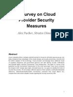 A Survey on Cloud Providers Security Measure
