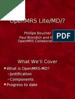 OpenMRS Lite - Boston