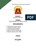 9. Aglomerantes - Arcilla - Yeso - Cal
