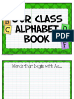 Alphabet Book Literacy Activity PDF