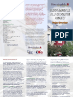 Bloomingdale Village Square Project Overview Brochure 2015