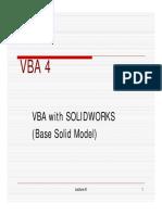 VBA4 Solidwork Base Model