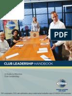 Toastmaster's Club Leadership Handbook